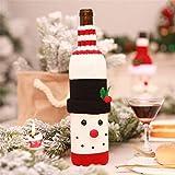 Weinflasche Cover, Malloom 1pc Weihnachten Weinflasche Schneemann Santa Dekoration Weihnachten Flaschenverschluss Weihnachtsdekor Weihnachten Champagner Wein Kreativ Wein Set