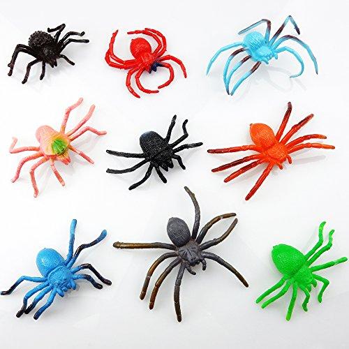 German Trendseller 24 x Spielzeug Spinnen - Mix ┃ Neu ┃ Insekten ┃ Mitgebsel ┃ Kindergeburtstag ┃ 24 Stück