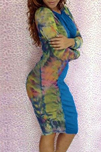 Dissa® Deman Blau SY6378 midi kleid Blau