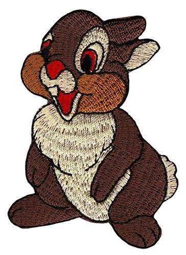 Patch Hase Kaninchen Aufnäher Bügelbild Applikation 5,5 x 7,5 cm