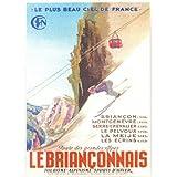 FRANCIA VINTAGE POSTER CARTEL PUB RETRO 50x70cm al tren Briançonnais El cielo más hermoso de Francia