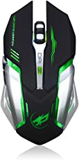 Inverse Rechargeable T1 Wireless Silent LED Backlit USB Optical Ergonomic Gaming Mouse (Black)
