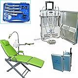 Caliente TODO EN UNO Dental Dental portátil unidad 4H + plegable silla + de alta velocidad baja Handpiece Kit 4H