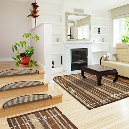 Floori Sisal Premium Teppich, div. Größen wählbar, braun/beige   auch als Set mit Stufenmatten