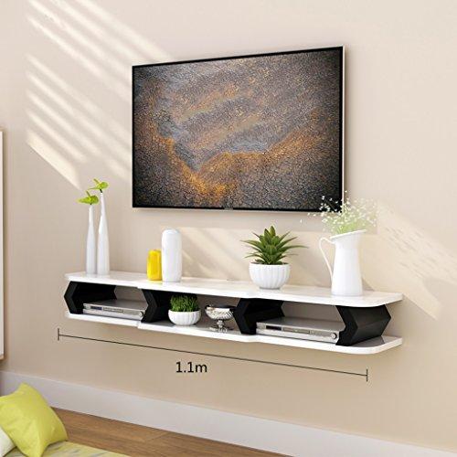 Königlich HWF TV Schrank Set Top Box Wohnzimmer TV Wand Hintergrund Wandbehang Schlafzimmer Trennwände Wand Dekoration (Farbe : A, größe : 110cm) -