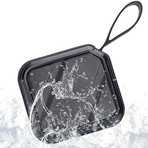 Bluetooth Lautsprecher Wasserdicht, Bluetooth-Lautsprecher Tragbarer Outdoor mit Freisprechfunktion, IPX7 Wasserdicht, 360° TWS Stereo Sound, 15H Spielzeit, Fur Bergsteigen Camping, Reisen