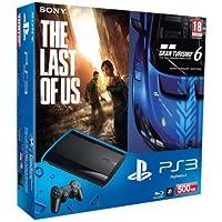 PlayStation 3 - Konsole Super Slim 500 GB (inkl. DualShock 3 Wireless Controller + Gran Turismo 6 (GT6) und The Last of Us)