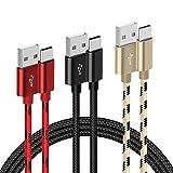G-Color Cavo USB C, [2M*3 Pezzi] Cavo USB Type C Nylon Intrecciato Ricarica Rapida e Trasmissione Tipo C per Samsung Glaxy S10/S9/S8, Huawei P30 (Colore)