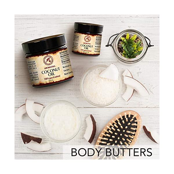 Aceite de Coco 100ml – Sin Refinar – Cocos Nucifera Oil – Indonesia – 100% Puro y Natural – Prensado en Frío – Ideal…