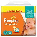 Pampers Simply Dry Junior 5 66pc(s) - diapers (Universal, Disposable diaper, Multicolour, Plastic bag)