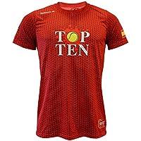 Luanvi Edición Limitada Camiseta técnica Top Ten, Hombre, Rojo, ...