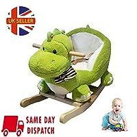 Walgreen® Wooden Plush Dinosaur Rocking Toddler Baby Ride On Rocker Play Toys With Music