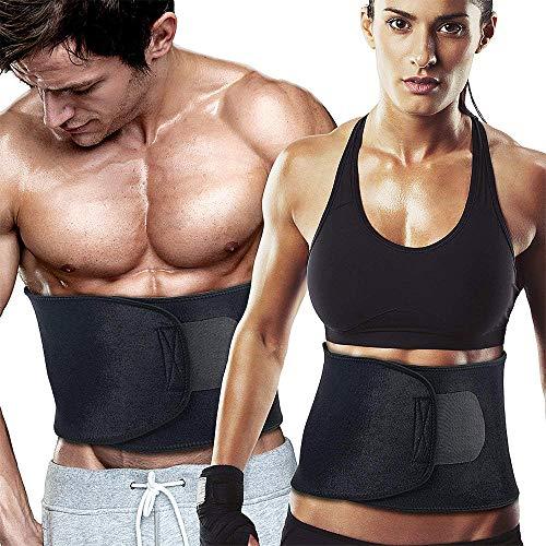 WeyTy Taille Trainer Gürtel, Verstellbarer Bauchweggürtel Fitnessgürtel Waist Trimmer für Herren und Damen zum Abnehmen und Muskelaufbau, Sport Fitness,Training,Yoga, Cycling, Boxing -