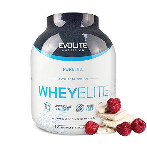 Elite Whey Protein (Evolite Nutrition Whey Elite 2270g - White Chocolate Raspberry - Protein - Eiweiss - Molke - Isolat - Muskelaufbau)