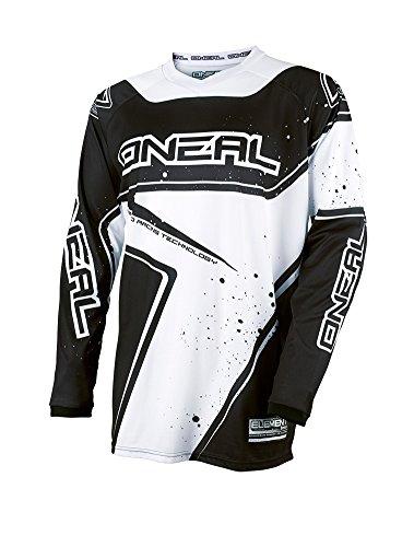 O'Neal Element Racewear Jersey Schwarz Weiß MX MTB DH Trikot Motocross Offroad, 0028-10, Größe M