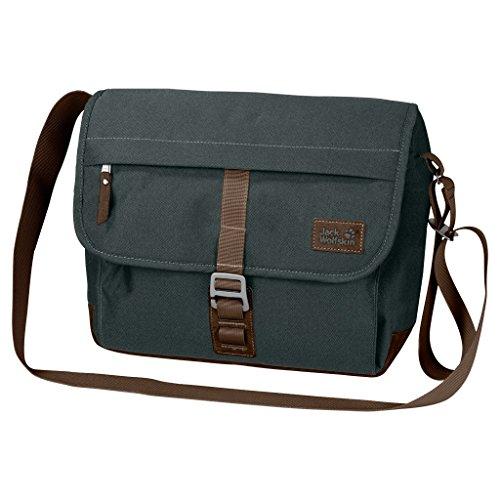 Jack Wolfskin Warwick Ave Kleine Vintage Messenger Bag grünlich grau