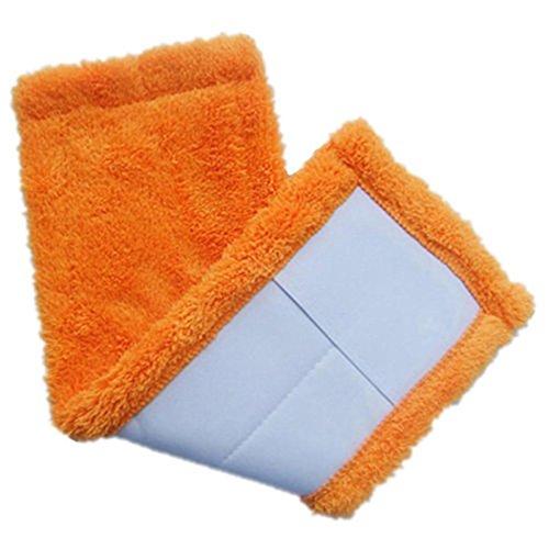 Xshuai 40 * 12cm Große Wasserabsorption Home Reinigungspad Koralle Velet Nachfüll Haushalt Staub Mop Kopf Ersatz (Grün / Blau / Rosenrot / Orange) (Orange) (Roboter Vakuum Bürsten)