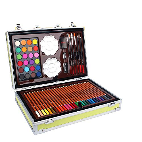 KÜNSTLER-Set Aquarell Pen Set Box Zeichnung Deluxe Art Set Aquarellmalerei Set Geschenke für Kinder (Color : Yellow, Size : Free Size)