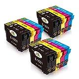 EBY 16XL 16 XL Compatibili Cartucce Epson 16 per Epson Workforce WF-2630 WF-2760 WF-2510 WF-2530 WF-2520 WF-2540 WF-2750 WF-2660 WF-2650 WF-2010(6 Nero,3 Ciano,3 Magenta,3 Giallo)