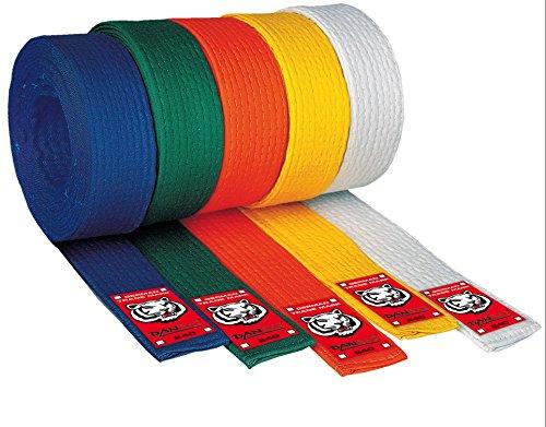 Danrho Junior Taekwondo Judo Karate Gürtel 4 cm Budogürtel 1-farbig einfarbig