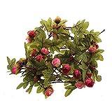 WEKA Künstliche Rose-Blumen Reben Herbst-Blätter Hängende Girlande Hochzeit Haus Dekoration Pink