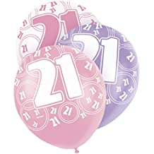 "12"" Glitz Latex Birthday Balloons, Pack of 6"