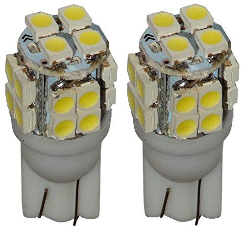 AERZETIX: 2X Ampoule T10 W5W 12V 20LED SMD Blanc Effet xénon veilleuses éclairage intérieur seuils de Porte plafonnier Pieds Lecteur de Carte Coffre Compartiment Moteur Plaque d'immatriculation