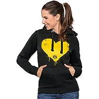 Diseño del Borussia Dortmund sudadera-camiseta con corazón para las mujeres 2015/2016, mujer, color Negro - negro, tamaño XXL