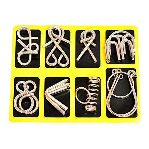 Yeelan IQ Knot / blocco rompicapo di gioco gioca insieme, 8pcs
