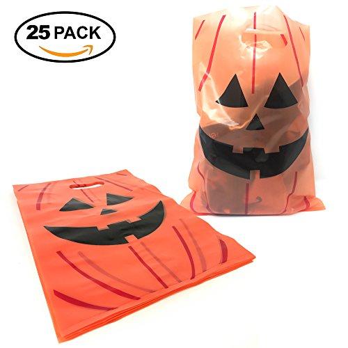 25 Bolsitas para Celebración de Halloween – Bolsas Perfectas para Regalos de Fiesta, Galletas, Dulces y Caramelos – Articulo de Almacenamiento de Favores