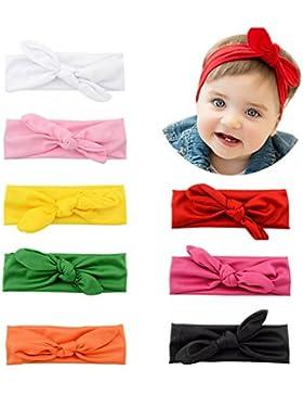 YHXX YLEN Bandas para la Cabeza Niña Bandas Cabeza Turbante Anudada para los Recién Nacidos - 8 Paquete
