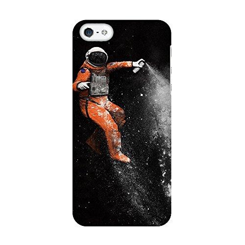 """artboxONE Handyhülle Apple iPhone 5, schwarz Hard-Case Handyhülle """"Astronaut Case"""" - Abstrakt - Smartphone Case mit Kunstdruck hochwertiges Handycover von Florent Bodart Premium Case"""