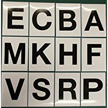 Advanced Printing 12 Black Letter Stickers for Dressage Arena Markers ABCE FHKM PRSV 150 x 200mm