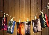 LGZOOT LED Battery Box Light String, USB, Photo Clip, Romantic Wedding Lights, Halloween, Christmas, Wedding, Party Decorative Light(2 Pieces),Warmwhite-5mUSB