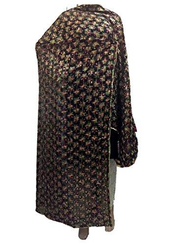 Sahej Suits Black Kanchan Phulkari Dupatta