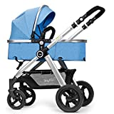 GDLXL Stroller 2in1 JMY-005 One Hand Fold 4 Wheel Pushchair With Raincover, From