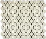 mosaico azulejos cerámica blanco Hexagon Hellbeige sin esmalte, para suelo pared baño inodoro ducha cocina azulejos Espejo Mostradores cubierta para bañera. Mosaico Matte mosaico placa 1Matte