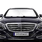 Homein® Parasole Auto Parabrezza 160x86cm-Parasole Parabrezza Anteriore per Auto Pieghevole, Copri Cruscotto, Fresca, Dimensione Universale per Auto Audi Ford (Argento/Bianca)