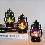 HJTBJ Halloween New Pumpkin Light Witch Light Portable petite lampe à huile LED Night Light Décoration Bar KTV Décoration Props (Size : Orange)...