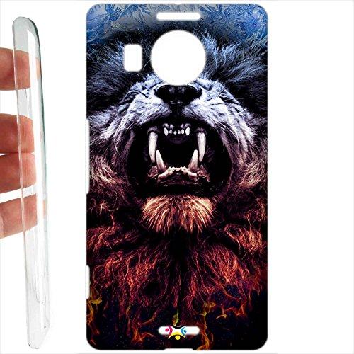 Tuttoinunclick custodia cover rigida per microsoft nokia lumia 950 xl - 1106 power lion