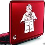 Windsor Designers Lego Spiderman Wandtattoo für iPad, Laptop, Spielzeugkiste, Kinder Vinyl Aufkleber, Aqua, Size 20cm x 12cm [8