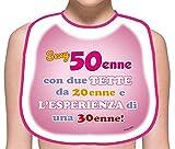 BAVAGLIONE Sexy 50 Anni Donna Gadget Divertente Scherzo Stampato Idea Regalo Festa 50° Compleanno