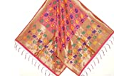 #10: Silk Zone Women's Multi color Banarasi Silk Dupatta