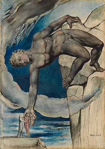 Berkin Arts William Blake Giclee Kunstdruckpapier Kunstdruck Kunstwerke Gemälde Reproduktion Poster Drucken(Antaeus setzt Dante und Virgil im Letzten Kreis der Hölle nieder) (Dantes Kreis)
