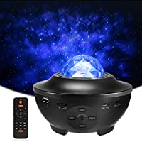 Delicacy Proyector de Luz Estelar, LED Cambiar Color Reproductor de Música con Bluetooth y Temporizador, Lámpara Luces Nocturnas de Nebulosa Giratorio con Control Remoto, Niños/Decoración/Regalo