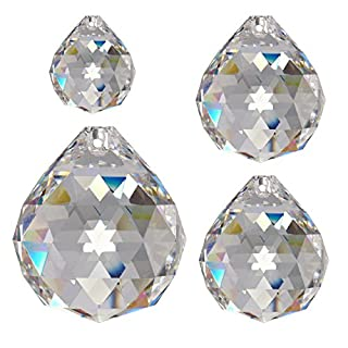 Regenbogenkristall 4 tlg. Kugelset 30mm & 40mm & 50mm Crystal 30%PbO ~ Feng Shui Suncatcher