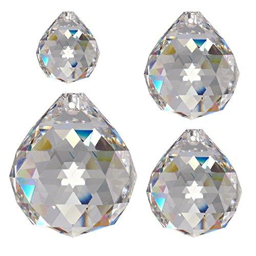 Assortiment de 4 boules de cristal haut de gamme (30% pbo)