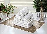 #8: Bombay Dyeing 100% Cotton Tulip Hand Towel Set of 6 Pcs-White