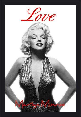 Empire 537928 - Quadro Marilyn Monroe Love, su Vetro Stampato con Cornice in plastica Effetto Legno, 20 x 30 cm