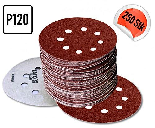 5 BIS 250 STÜCK P120 Klett Schleifscheiben Haftschleifscheiben Schleifpapier , Durchmesser:Ø 125...